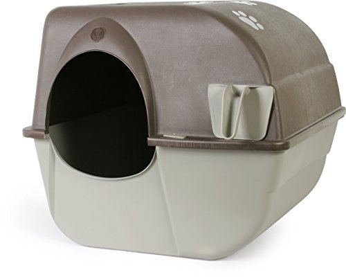 Omega Paw Self-Cleaning Litter Box, Large, Green and Beige by Mojetto