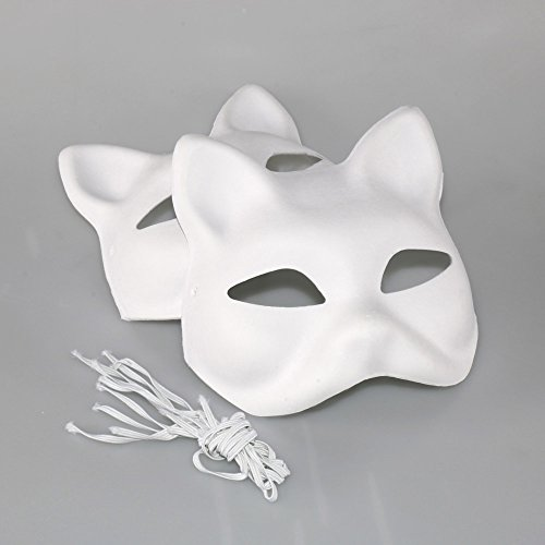 SuperLi Set of 8 / Costume fancy dress cosplay tool DIY handmade mask fox Mask