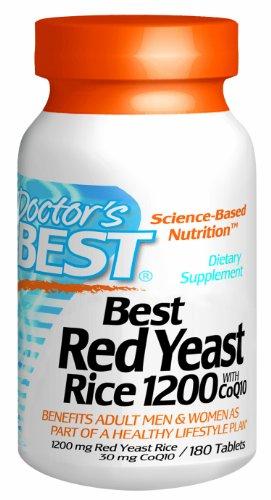 Best Best levure de riz rouge de médecin de 1200 mg de CoQ10, 180-Count