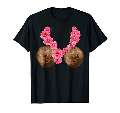 Hawaiian Coconut Bra Shirt | Cool Halloween Flowery