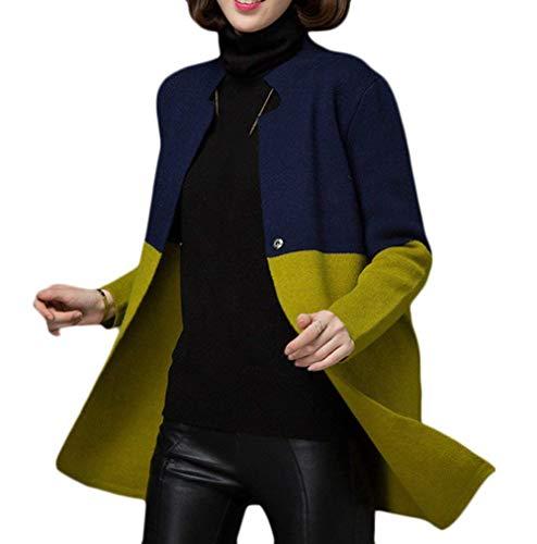 Moda Slim Giacca Invernali Autunno Bottoni Lunga Manica Retro Navy Elegante Outerwear Donna Giovane Giubotto Giaccone Casuali Fit Festiva Glamorous Chiusura Cucitura Semplice xrq65Irw