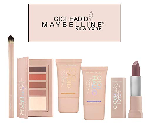 Maybelline New York Gigi Hadid & ColorSensational 5-Piece Complete Set (Contour, Strobe, Lipstick)