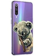 Oihxse Compatible con Xiaomi Mi CC9e/Xiaomi Mi A3 Funda Cristal Silicona TPU Suave Ultra-Delgado Protector Estuche Creativa Patrón Protector Anti-Choque Carcasa Cover(Pereza A6)