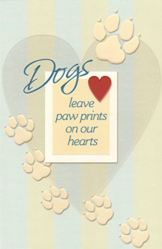 Pet Loss/Sympathy Card for Dog Paw Print (1) Single Card w/Envelope