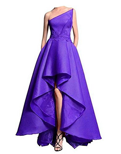 Women's Off Hi Evening Long Lo Purple Formal Shoulder ANGELA Dresses UgdxqU