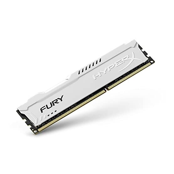 Kingston HyperX FURY 16GB Kit (2x8GB) 1866MHz DDR3 CL10 DIMM - White (HX318C10FWK2/16) 414cUeQ67YL. SS555