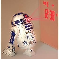 Star Wars Merchandise - R2D2 LED Alarm Clock (Size: 5 x 6)