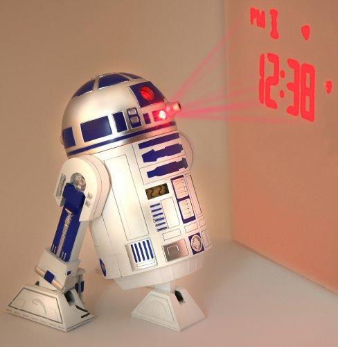 Star Wars Merchandise - R2D2 LED Alarm Clock (Size: 5