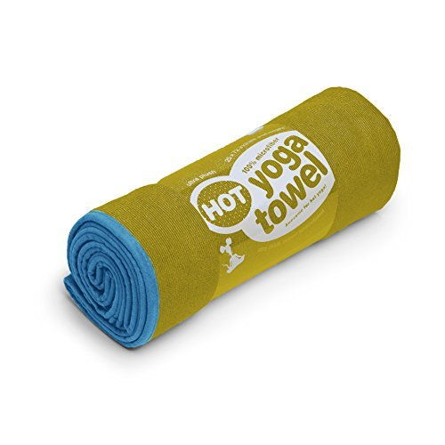 "Cush Yoga Towel - 100% Microfiber Yoga Mat Towels - Without Silicone Backing - Absorbent - 600 gsm - Ultra-Thick for Bikram and Hot Yoga -  Multiple Sizes and Colors - 24"" x 68"""