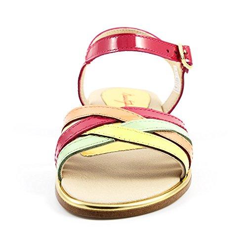 Pablosky - Sandalia Charol Magenta y Multicolor - 807459