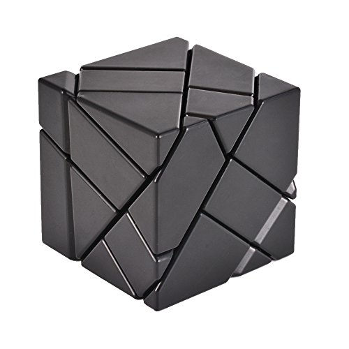 Accord Gold (Geefia Magic Puzzle Ghost Cube, 3x3 Irregular Abnormity splicing Intelligence Toys Smooth and Fast Play with 1 Cube bottom Stand to Display,(1 Gold Sticker,1 Silver Sticker))