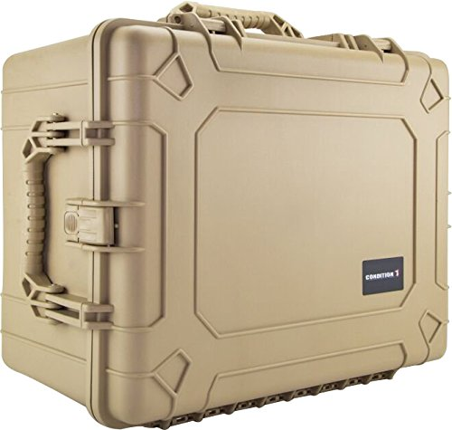 Condition 1 #024 Tan Airtight/Watertight Protective Case with DIY Customizable Foam by Condition 1