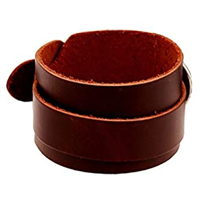 Joyplancraft Steampunk Leather Wrist Bracelet Mens Leather Cuff