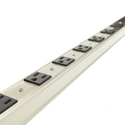 SkuBros 12 Outlet Vertical Rackmount Power Distribution Unit (PDU), Power Strip, 15A with 6ft Power Cord