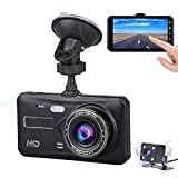 Nesolo Full HD 1080P Car Dash Cam 170° Wide Angle 4' IPS Touch Screen Dashboard Camera DVR Video Recorder Front and Rear with HDR Night Vision,Loop Recording,Parking Mode,G-Sensor