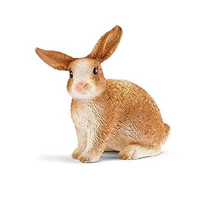 Schleich-13827 Conejo de Granja, Color marrón (13827): Amazon.es ...