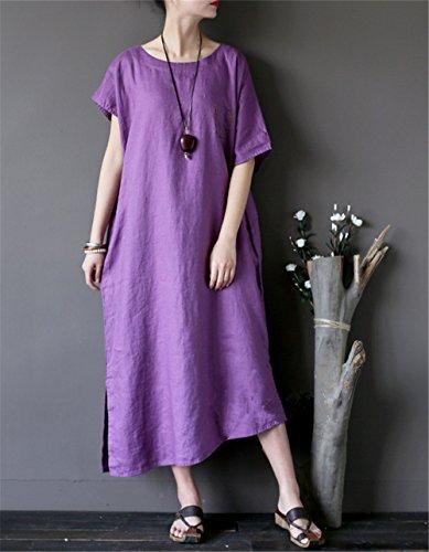 JCT Sheer YESNO Wing Maxi Long Women Sleeve Bat Dress Purple Striped Jm6 Loose Dress S1qBdxq