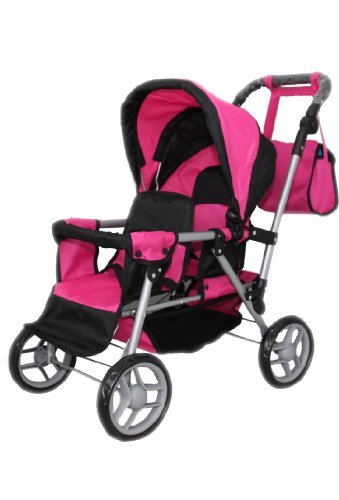 Mommy & Me Twin Doll Pram Back to Back adjustable handle with FREE Carriage bag 9386 Review
