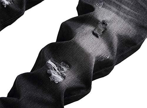 414cY3lw6lL. AC LAVIKS Men's Ripped Slim Fit Cozy Jeans    Product Description
