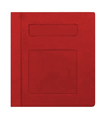 PDC Healthcare CBS2R Poly Binder, Side Open, 3-Ring,''Patient Record'', Red