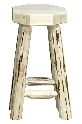 Montana Woodworks MWBN24 Montana Collection Counter Height Backless Barstool, Ready to Finish (Bar Backless Stools Pine)