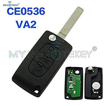 CE0536 Model Flip Remote Key 3 Button 434mhz PCF7961 VA2 for Citroen Peugeot remtekey