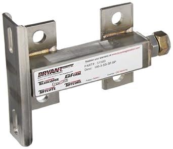"Bryant 51500 Conveyor Take-Up Tensioner, Stainless Steel, 3"" Adjustment, 1/2""-1"" Bore"