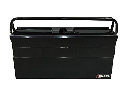 Excel TB122B-Black 19-Inch Cantilever Steel Tool Box, Black
