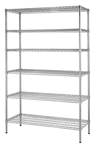 Muscle Rack WS481872-Z  Steel Shelving Unit, 6 Shelf, 48