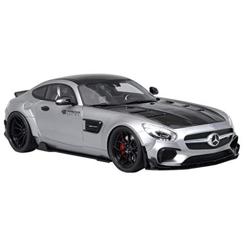 GAOQUN-TOY 1:18 Mercedes-Benz AMG GT Modified by Prior Wide Body Limited Edition 999 Resin Car Model (Color : Silver, Size : 27cm11cm9cm)