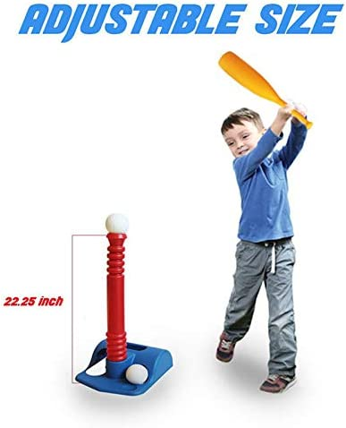 Childrens Baseball T-ball Sets Personal Interactive Game Toys Adjustable T Height Improves Batting Skills Suitable for Toddler Boys and Girls Ztoma Toddler Baseball Toys