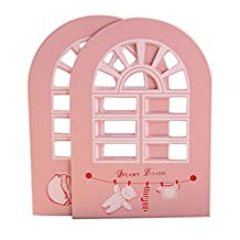 Premium Tall Cute Bookends, Pink
