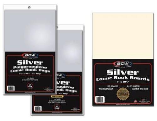 Silver Comic Bags - 7
