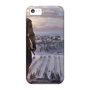Shock-Absorbing Hard Phone Cover For Iphone 5c (jus13687PRmM) Custom Lifelike Assassins Creed 3 Pattern