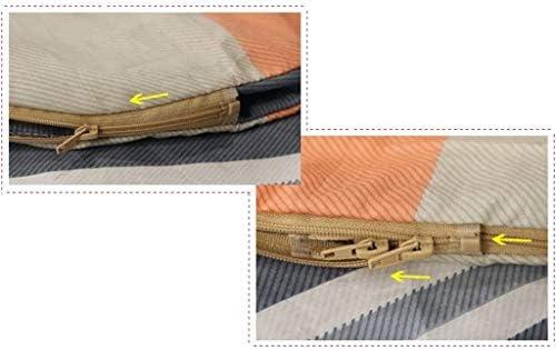 QIANSHI Pratique à Transporter, l'utilisation à Plusieurs reprises, waterp Sac de Couchage, Tourisme Voyage Coton Ultraléger Portable Adulte Liner Libre et Confortable