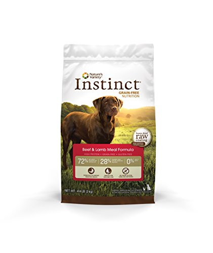 Instinct Original Grain Free Beef & Lamb Meal Formula Natural Dry Dog Food by Nature's Variety, 4.4 lb. Bag