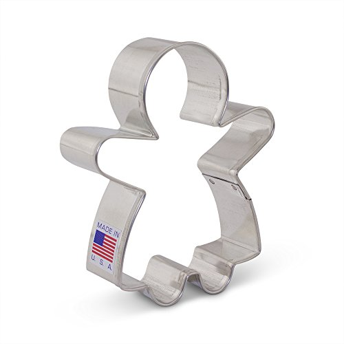 Gingerbread Girl Cookie Cutter - Ann Clark - 3.75 Inches - US Tin Plated Steel