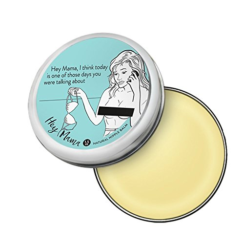 Hey Mama Nipple Cream With Certified Organic All Natural Ingredients for Sore Cracked Nursing Nipples - 1.5 oz