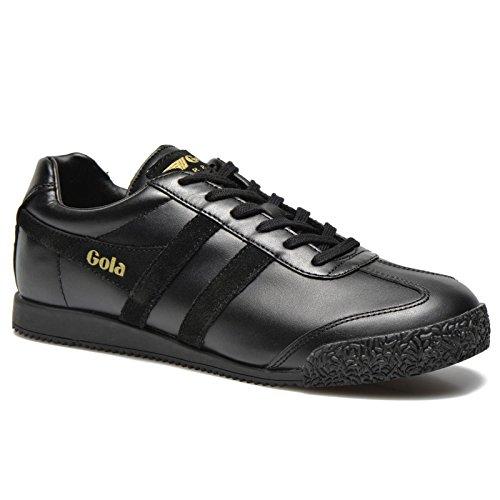 Gola Women's Cla781 Harrier Mono Fashion Sneaker, Black, 6 M US