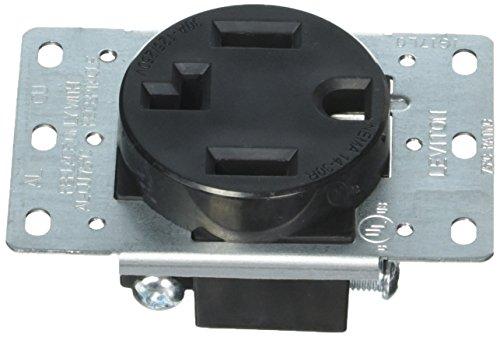 Leviton 278-S00 4-Wire, 30-Amp, 250V Flush Mount Dryer Receptacle