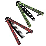 AIFUSI 3 Pack Butterfly Knife Trainer Practice Comb