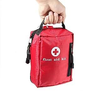 AOLVO Botiquin Primeros Auxilios, Botiquin de Urgencias de Supervivencia con 105 Artículos, Adecuado para El Coche, Hogar, Camping, Caza, Viajes, Aire Libre o Deportes, Pequeño y Compacto