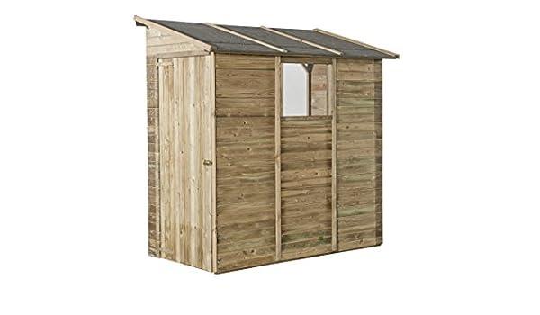 Avanti Trendstore - Manerba - Caseta de pared para el jardín, madera de pino tratada, 105 x 217 x 201 cm aprox.: Amazon.es: Hogar