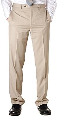 Calvin Klein Men's 100% Linen Flat Front Dress for Outdoor Events