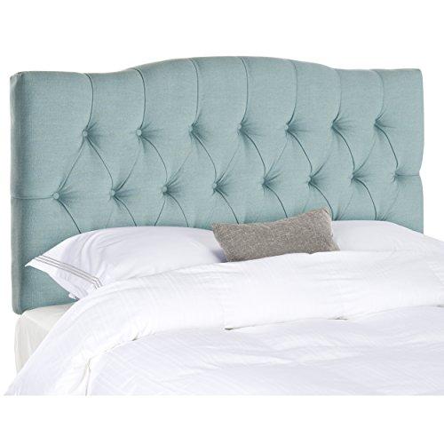 (Safavieh Axel Sky Blue Upholstered Tufted Headboard (Full) )