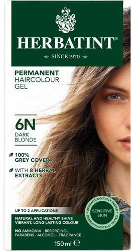 (4 PACK) - Herbatint 6N Dark Blonde | 150ml | 4 PACK - SUPER SAVER - SAVE MONEY by Gentle Beauty