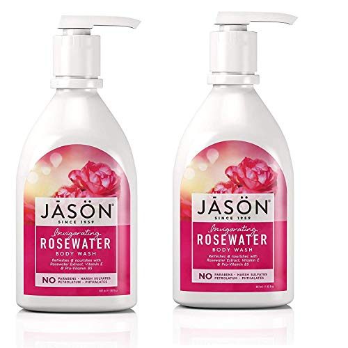 Jason Shower Body Wash, Rosewater, 30 oz, 2 pk