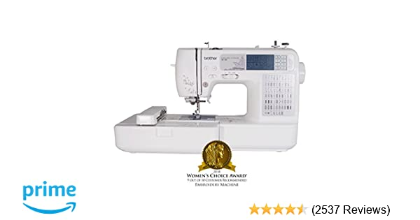 Amazon Com Brother Se Combination Computerized Sewing And X Embroidery Machine With  Built In Stitches  Built In Designs  Lettering Fonts Arts
