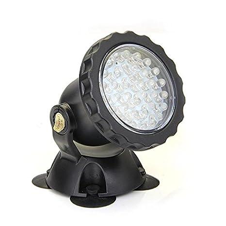 FACILLA®4 Lámpara 36 LED Foco Acuario Pecera Sumergible Submarino Luz 4 Colores: Amazon.es: Hogar