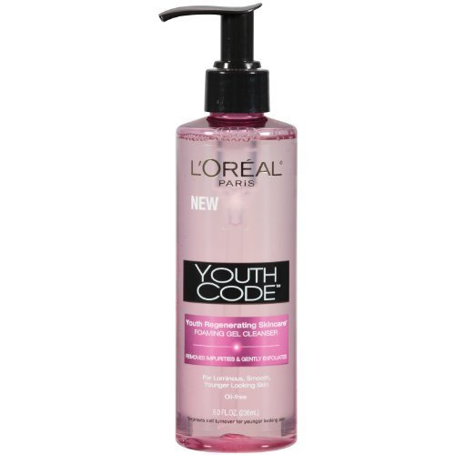 L'Oreal Youth Code Foaming Gel Cleanser, 8 Fluid Ounce